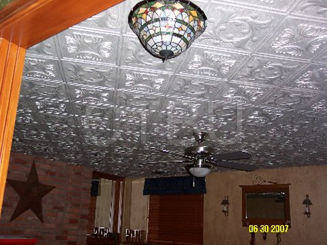 wonderful Ceiling Tiles Over Popcorn Ceiling Part - 16: Remove the cost of asbestos ceilings, by gluing Styrofoam ceiling tiles over  existing surface.