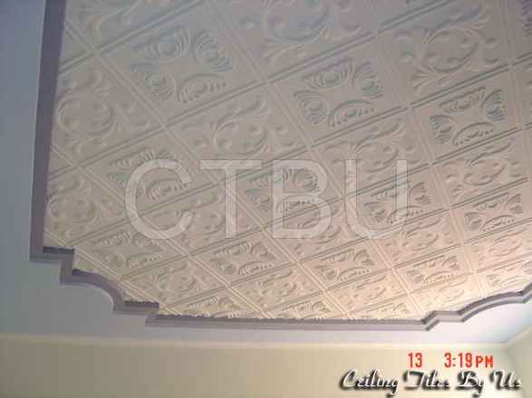 Our paintable Styrofoam ceiling tiles are perfect for DIY weekend projects. Easy and affordable way to change any boring ceilings.