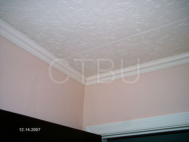Don\'t waste your money removing your popcorn ceiling, just glue our beautiful tiles over the existing surface