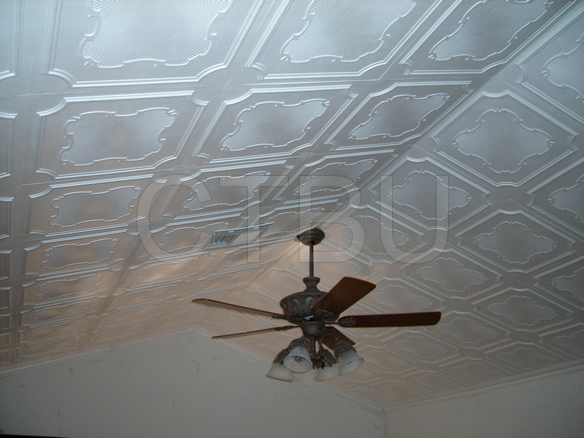 Transfrom any room! Save time and money by using Styrofoam ceiling tiles.