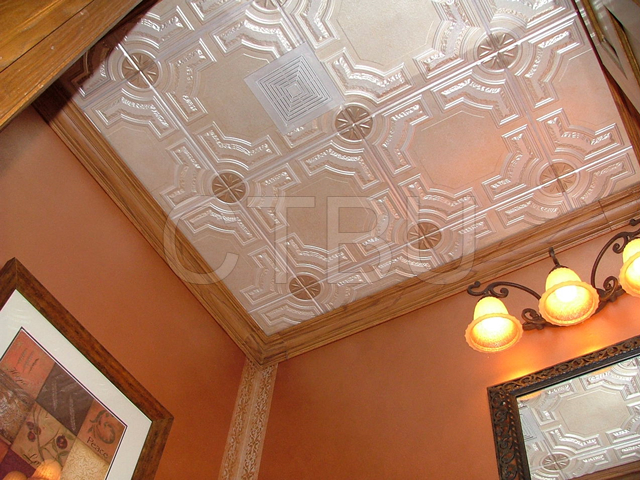Reflective ceiling tiles