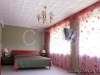 Bedroom remodeling ceiling with styrofoam ceiling tile, can be applied to existing secure popcorn
