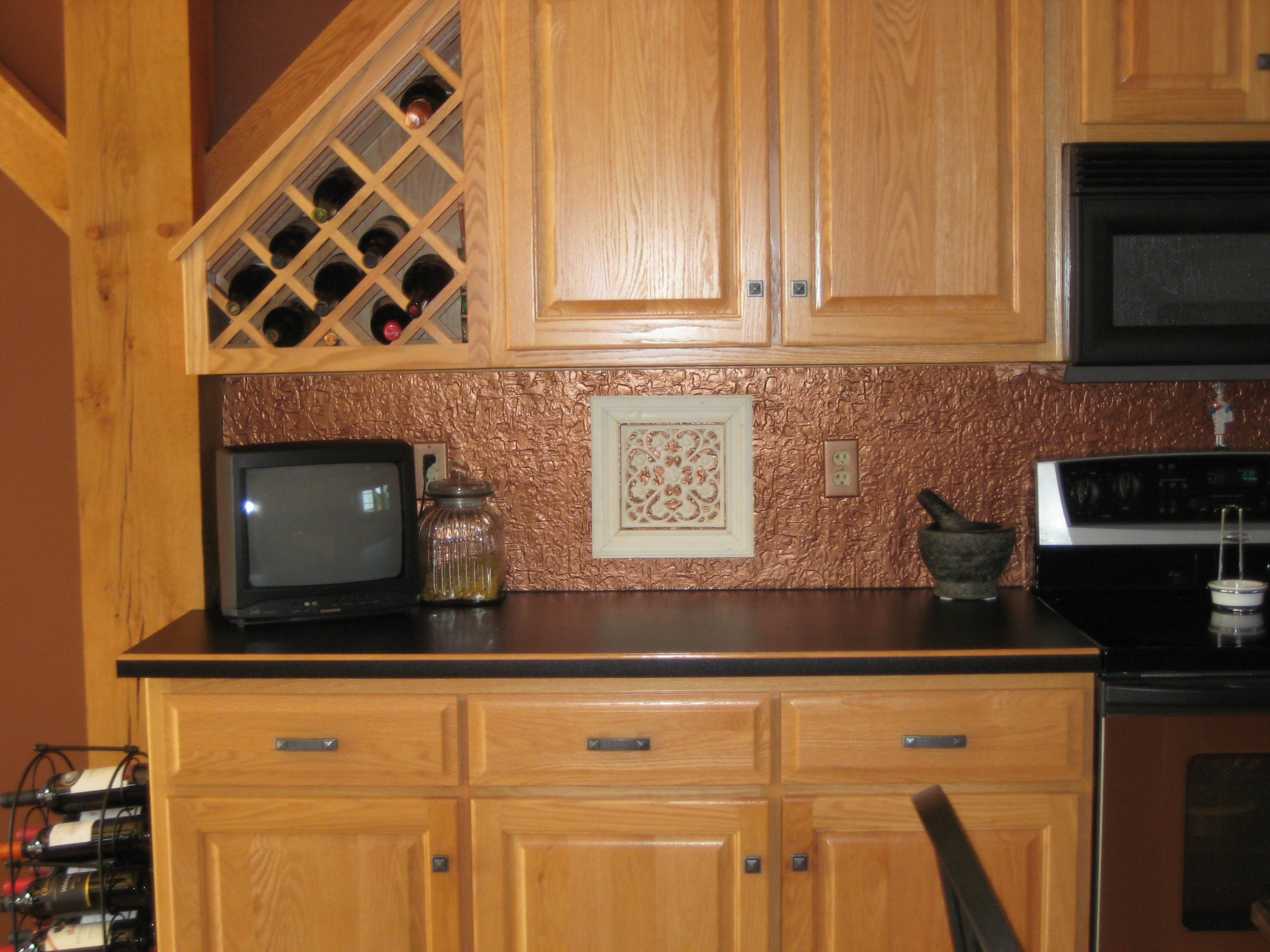 Wall Panel using PVC Backsplash for Kitchen Remodeling.