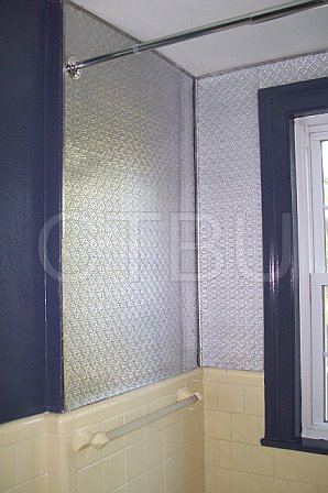 DIY Bathroom Remodel with PVC Backsplash in Silver