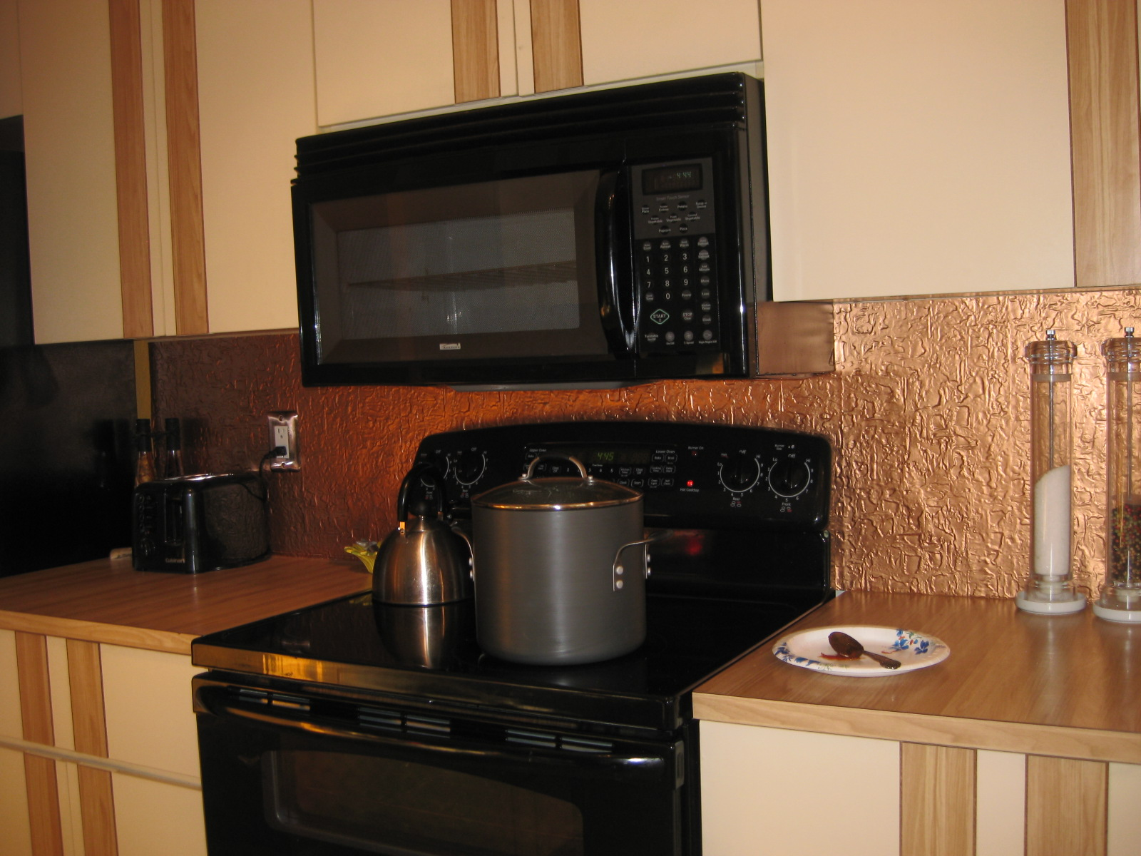 Wall panel using PVC Backsplash # 40 Copper