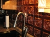 Ceiling Tile Installed as Backsplash by Customer