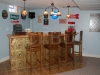 Bar Remodel with Ceiling Tiles design 117 Antique Gold