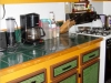 Kitchen Kabinets Remodel by Glue on PVC Backsplas
