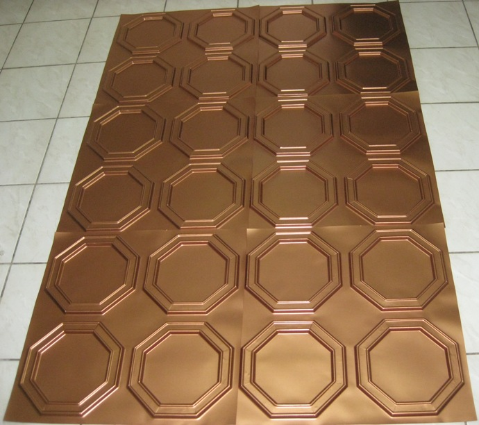 Plastic decorative ceiling tiles