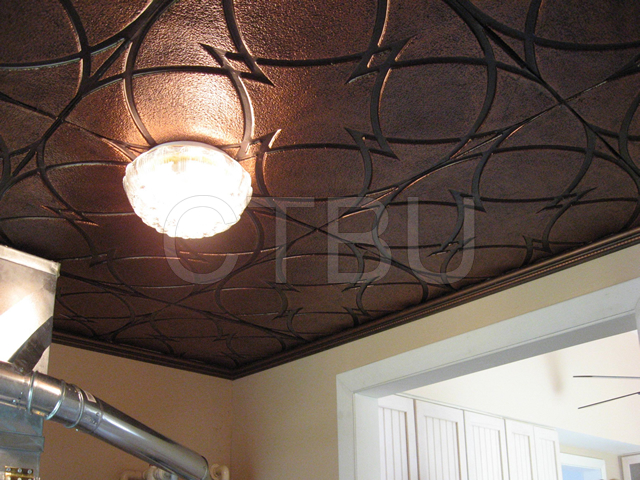Composite Ceiling Tiles : Plastic glue up drop in decorative ceiling tiles
