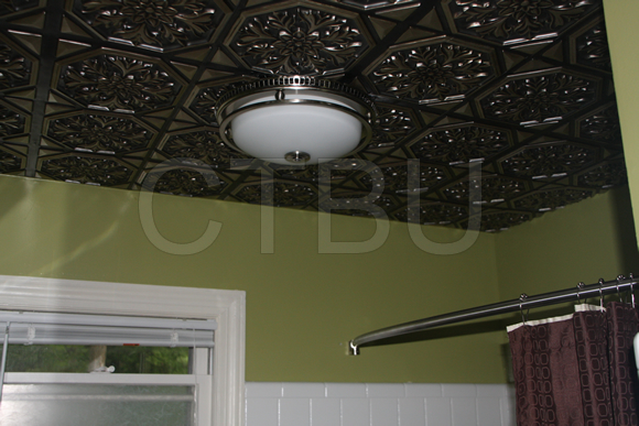 Bathroom drop ceiling tiles