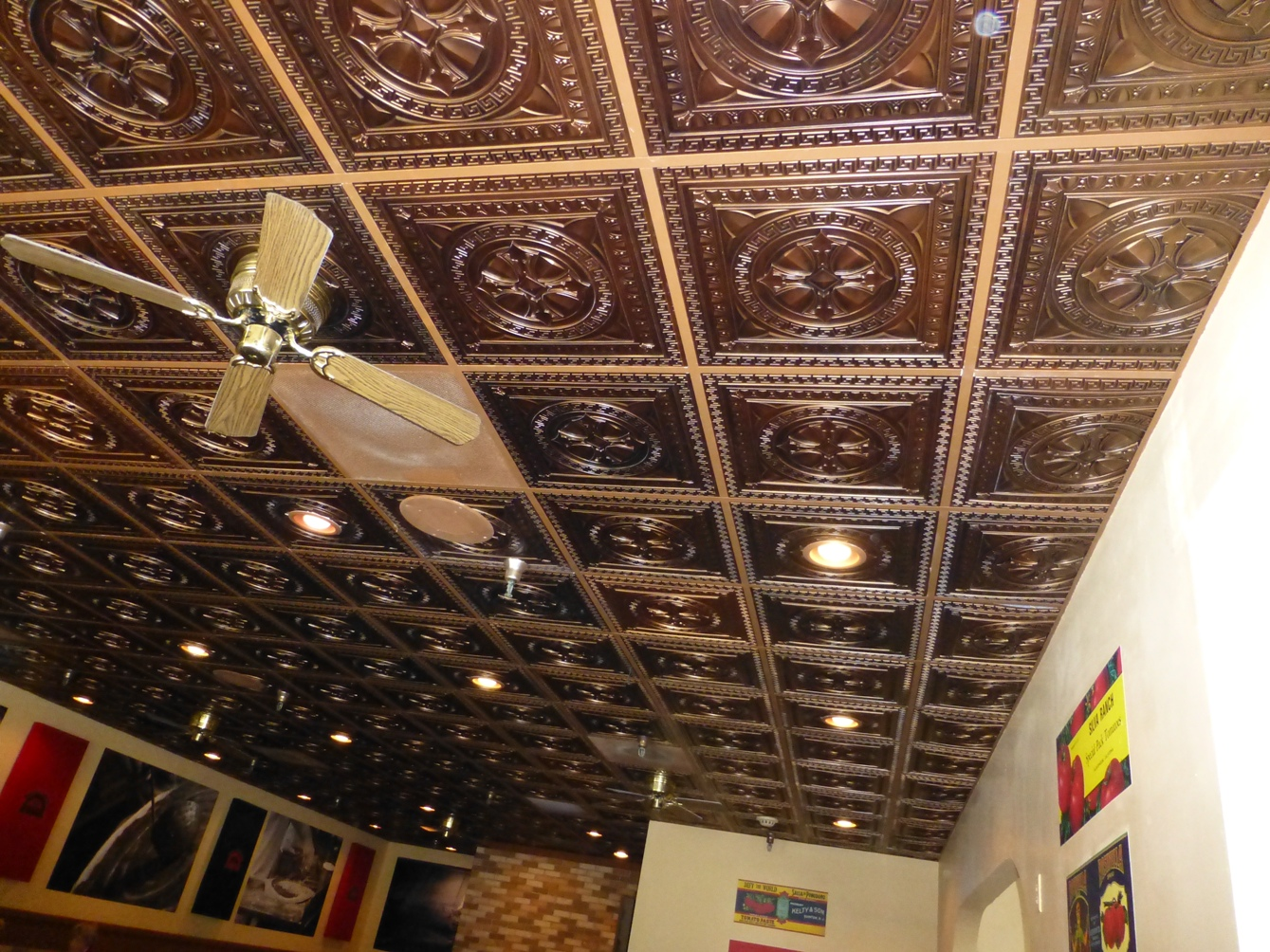 Ceiling tile grid