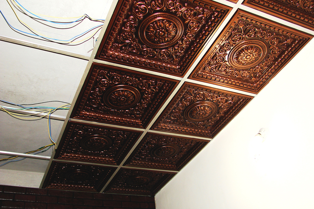 Design VC 02 Antique Copper Decorative PVC tiles