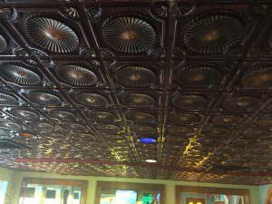 plastic ceiling tile glue up