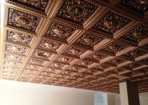 Antique Copper Glue Up Ceiling Tiles