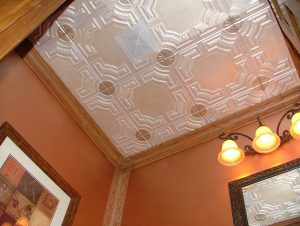 Faux Tin Painted Ceiling Tile