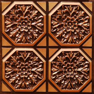 Faux Antique Copper PVC Ceiling Tile