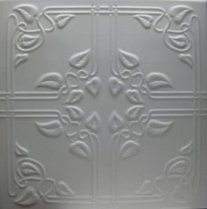 R-37 Faux Tin White Styrofoam Ceiling Tile
