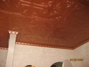 R-37 Painted Installed Ceiling Tile