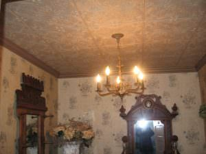 Glue over PoPcorn ceiling tiles