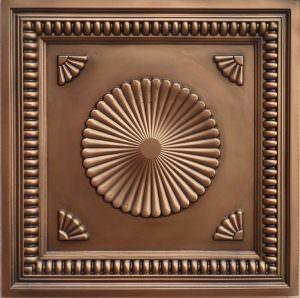 Faux Tin Antique Copper  3d Tile