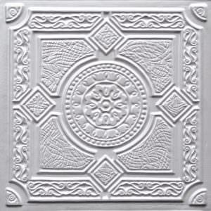 Faux Tin White Pearl PVC    199 tiles only!