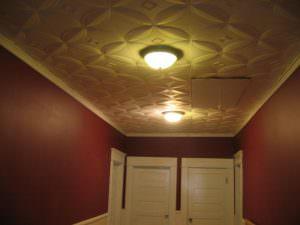 Styrofoam Ceiling Tiles Install
