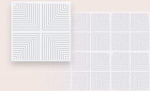 R-6  Tin Modern Ceiling Tile