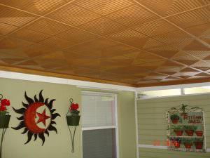 Paintable polystyrene ceiling tiles