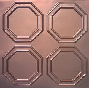 PVC Tile looks like Copper 2x2 with overlapping edges