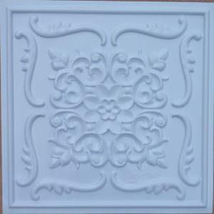 Faux Snow Dream White Ceiling Tile PVC