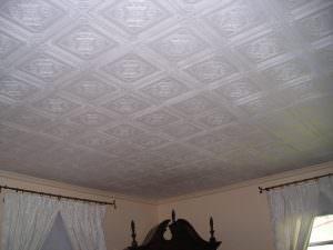 Foam ceiling tiles install