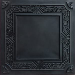 Faux Black Ceiling Tiles  PVC