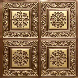 Antique Brass ceiling tiles