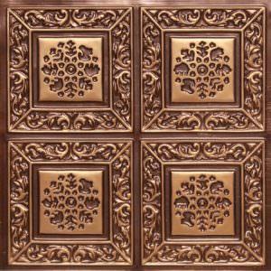 2x2 ceiling tile Antique Copper