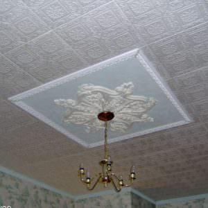 Vinyl PVC Ceiling Tiles Installed