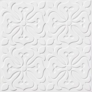 White Unfinished PVC  12x12 pattern  149 tiles only