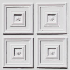White Matt Plastic tile 2x2