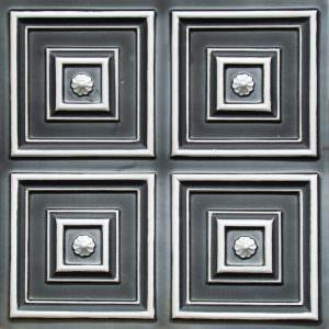 Faux Tin Antique Silver Tiles