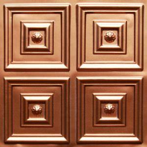 Faux Copper Plastic  24x24