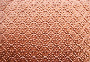 Faux Tin Copper Vinyl