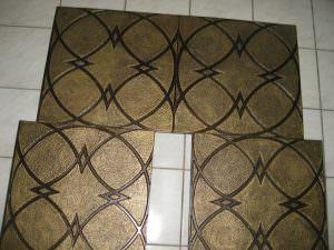 Faux Tin Antique Gold tile