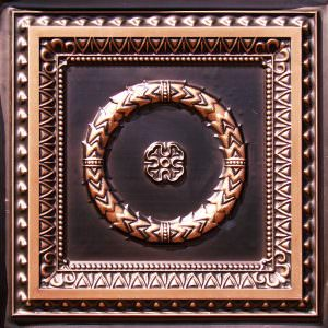 Antique Copper Design 210 Drop in Grid or Glue Up Ceiling Tile