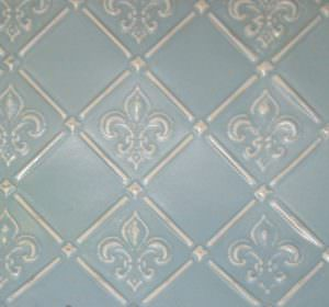 Wc 80 Fleur De Lis Faux Antique Silver Decorative Kitchen Backsplash