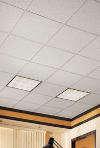 Armstrong Cortega Installed Grid Acoustical Ceiling Tile