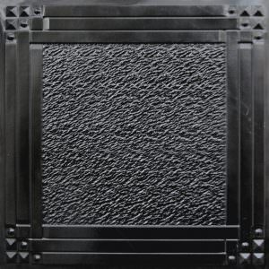 Black Ceiling Tile 2x2