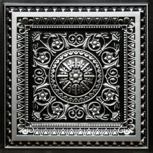 TIN ANTIQUE SILVER Drop In Tile 24x24