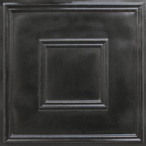 Faux Black Modern Ceiling Tile