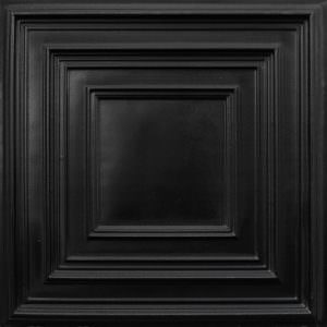 Black ceiling tile