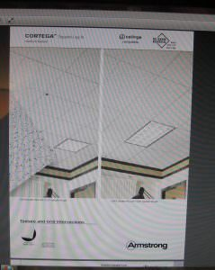 ceiling tilesus | armstrong 770 cortega 2 x 2 square lay in